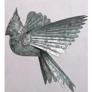 Ancient Graffiti Cardinals Ornament Wall Decor; Galvanized