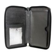 Ashlin Genuine Leather Women's Smartphone Wallet, Black