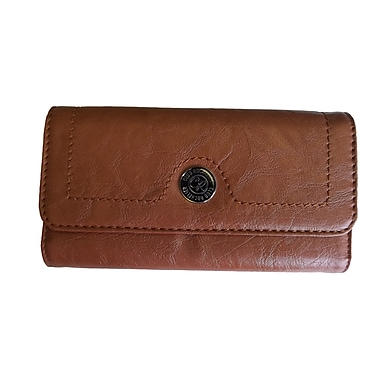 Club Rochelier Clutch Wallet with Outside Pocket, Tan