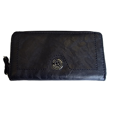Club Rochelier CL6071-9-BLACK Zip Around Wallet, Black
