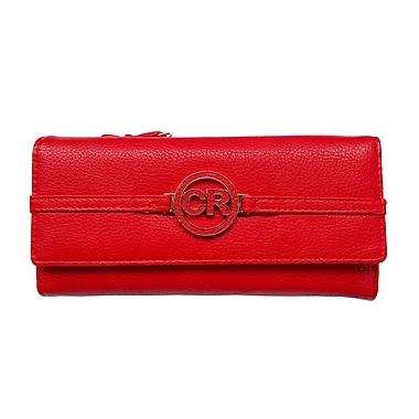 Club Rochelier Slim Clutch Wallet, Red