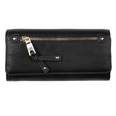 Club Rochelier Clutch Wallet with Cheque Book and Gusset, Black