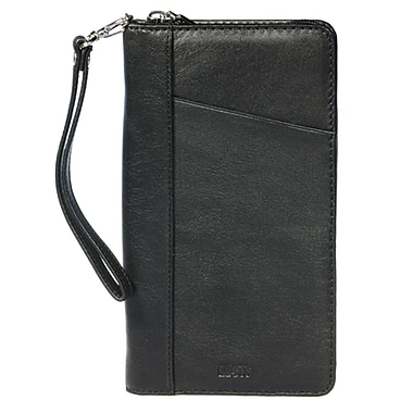 Roots Zip Around Ticket Wallet, Black