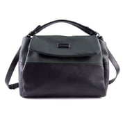 Club Rochelier Colour-Blocked Hobo Bag, Black/Green