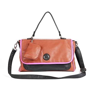 Club Rochelier Colour-Blocking Satchel Bag, Brown/Black
