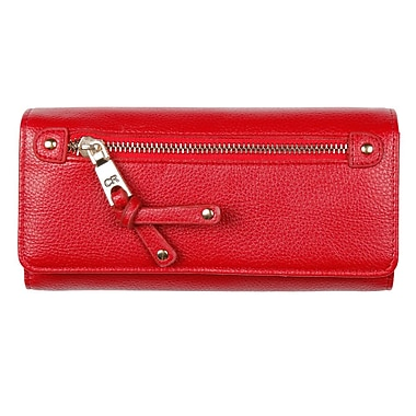 Club Rochelier Clutch Wallet with Cheque Book and Gusset, Red