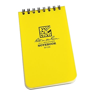 Rite in the Rain All-Weather Pocket Top-Spiral Notebooks, Universal Page Pattern, 3