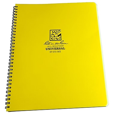 Rite in the Rain #373-MX All-Weather Maxi Side-Spiral Notebook, Universal Page Pattern , 8-1/2