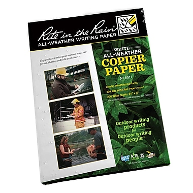 Rite in the Rain #8511 All-Weather Copier Paper, White , Blank, 8-1/2