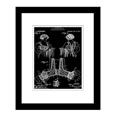 PrestigeArtStudios Brassiere Patent Framed Graphic Art