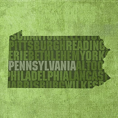 PrestigeArtStudios Pennsylvania Textual Art
