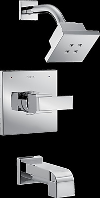 Delta Ara Monitor Tub and Shower Trim w/ Lever Handle; Chrome