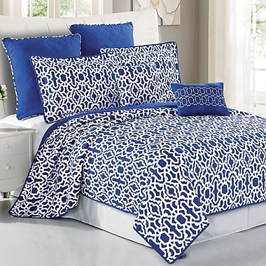 Serenta Montgomery 7 Piece Coverlet Set; Queen