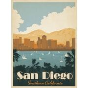 PrestigeArtStudios Retro San Diego Vintage Advertisement