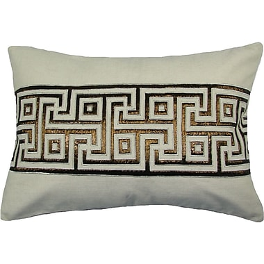Design Accents Key Lurex Throw Pillow; Ivory/Copper