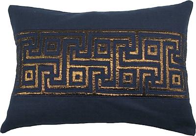 Design Accents Key Lurex Throw Pillow; Navy/Copper