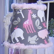 Blueberrie Kids Animal Cookies 7'' Fabric Empire Lamp Shade