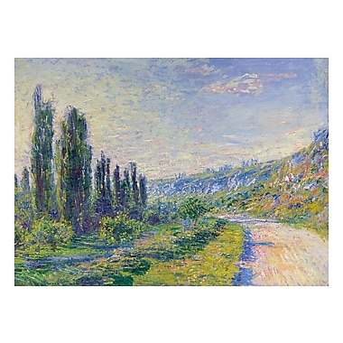 PrestigeArtStudios The Road to Vetheuil by Claude Monet Painting Print