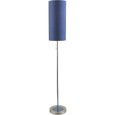 Brayden Studio Moroney 61'' Floor Lamp; Blue
