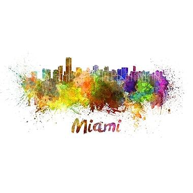 PrestigeArtStudios Miami Splatter Skyline Graphic Art