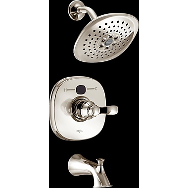 Delta Monitor Tub and Shower Faucet; Brilliance Polished Nickel