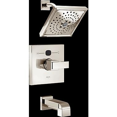 Delta Angular Modern Tub and Shower Faucet Trim; Brilliance Polished Nickel