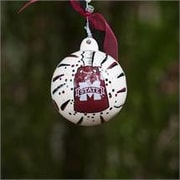 Glory Haus Mississippi State Cowbell Ball Ornament