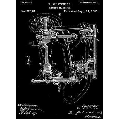 PrestigeArtStudios Sewing Maching Patent Graphic Art