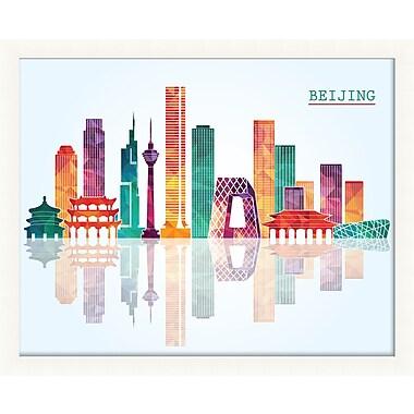 PrestigeArtStudios Beijing Pop Skyline Framed Graphic Art