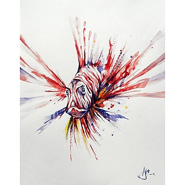 PrestigeArtStudios Pterois Painting Print