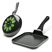 Ecolution Artistry 2 Piece Non-Stick Fry Pan and Griddle Set; 9.5'' W x 9.5'' D
