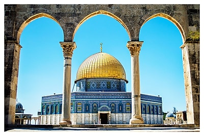 PrestigeArtStudios The Dome of the Rock on the Temple Mount - Jerusale Photographic Print