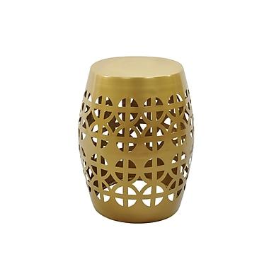 Fashion N You Artisan Garden Stool; Gold