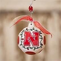 Glory Haus Nebraska Ball Ornament