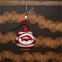 Glory Haus Arkansas Stripe Ball Ornament