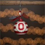 Glory Haus Ohio State Stripe Ball Ornament