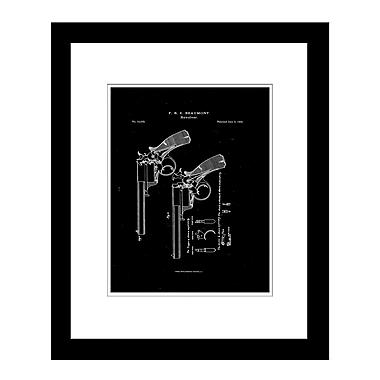 PrestigeArtStudios Beaumont 1856 Revolver Framed Graphic Art