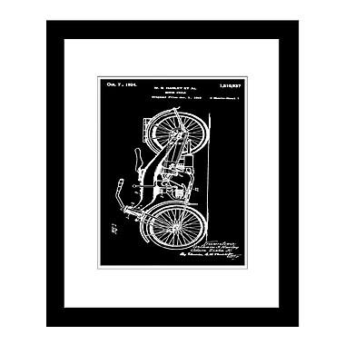 PrestigeArtStudios Harley Motorcycle Framed Graphic Art