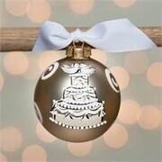 Glory Haus Wedding Cake Glass Ball Ornament