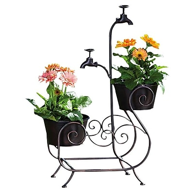 Evergreen Flag & Garden Plant Stand