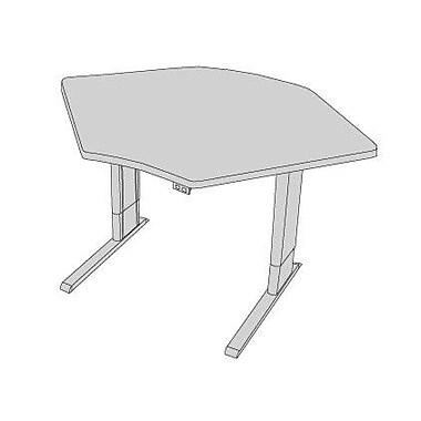 Populas 42'' W Infinity Height Adjustable Training Table; Dove Gray