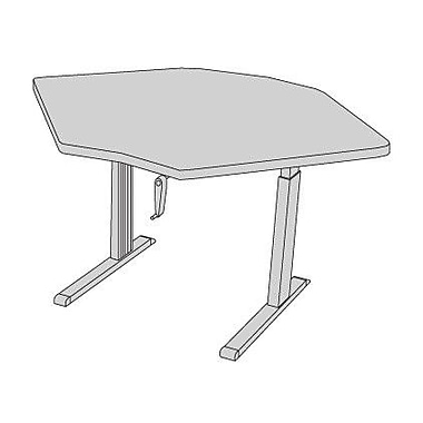 Populas 59'' W Equity Height Adjustable Training Table; Dove Gray