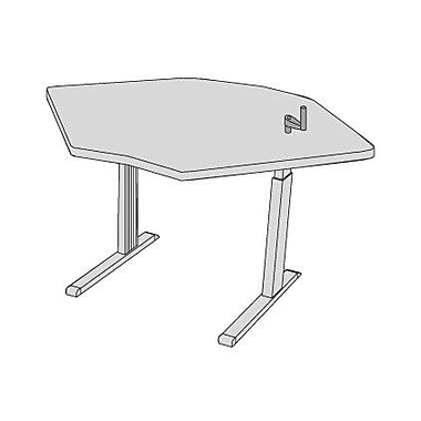 Populas 59'' W Equity Height Adjustable Training Table; American Maple