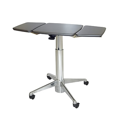 Workstuff Adjustable Laptop Cart; Shark Gray