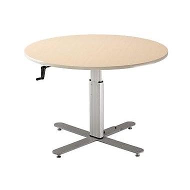 Populas 42'' W Progression Height Adjustable Training Table; Dove Gray