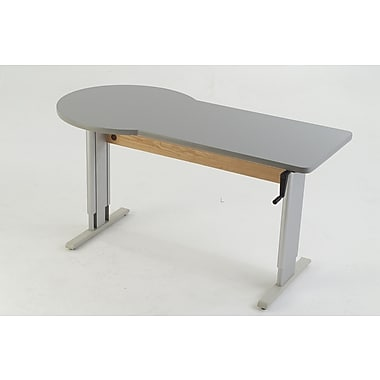 Populas 60'' W Accella Height Adjustable Training Table; Digital Storm