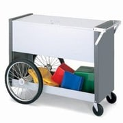 Charnstrom Long File Cart w/ Rear Tires and Locking Top