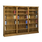A&E Wood Designs Americana 84'' Oversized Set Bookcase; Light
