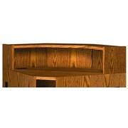 Ironwood Glacier 10'' H x 36.25'' W Desk Hutch; Amber Ash