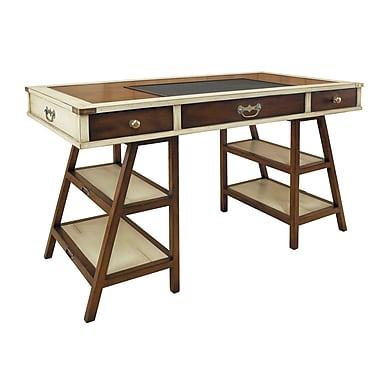 Authentic Models Campaign Writing Desk; Ivory